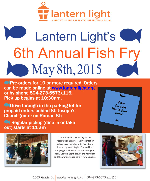 New Orleans Fish Fry Announcement