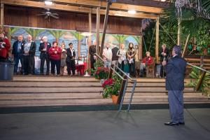 Francis Bologna addresses the guests
