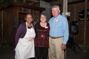 The kitchen committee, Donna Foley, Beth Monahan, and David Hardin are recognized