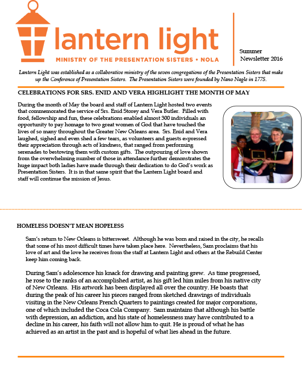 Lantern Light Summer Newsletter