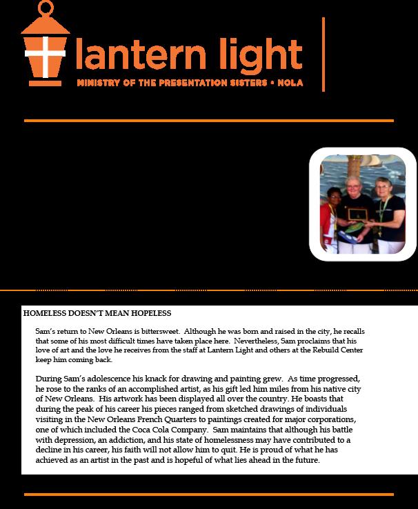 Lantern Light Summer Newsletter